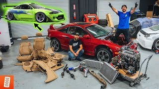 Building a Modern Day (Fast & Furious) 1998 Mitsubishi Eclipse GSX - Part 2 - Removing ALL Parts!