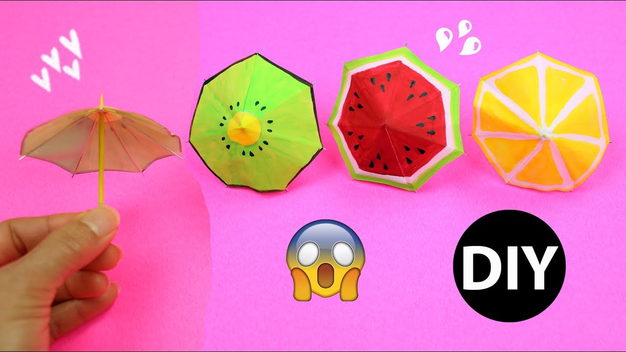Video How to Make Mini Fruit Slice Umbrellas/DIY Doll Accessories