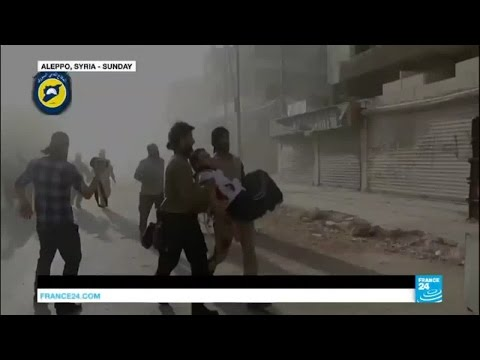 Syria: bombs rain down on civilians in Aleppo as troops prepare to retake the city