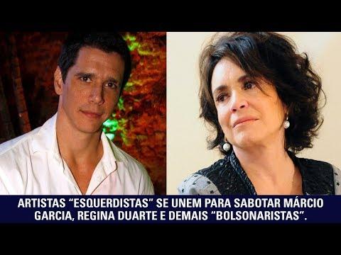 """Artistas """"esquerdistas"""" se unem para sabotar Márcio Garcia, Regina Duarte e demais """"bolsonaristas"""""""