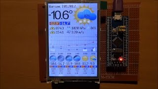ESP8266 Internet Weather Station - Display Layout Draft Driven by STM32