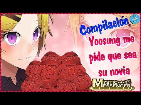 Yoosung Me Pide Que Sea Su Novia  + Mucho Amor ~ Mystic Messenger Compilación De Chats