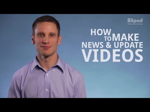 How to make news and update videos - Video marketing for business #8