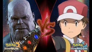 Pokemon Crossover Battle: Red Vs Thanos (Marvel Infinity War)