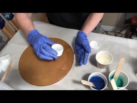 Resin Pigment Canada- testing resins for clarity and bubbles