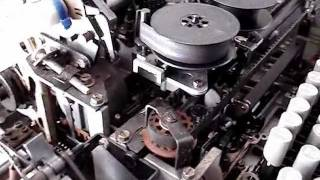 ASR33 Teletype in operation