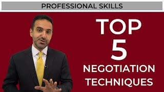 My top 5 negotiation tips