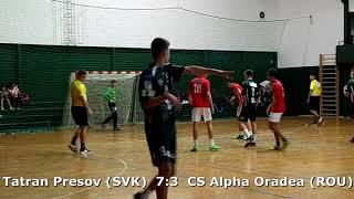 Handball. U17 boys. Sarius cup 2017. Tatran Presov (SVK) - CS Alpha Oradea (ROU) - 12:5 (1st half)