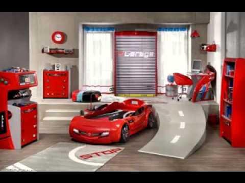 Race car bedroom decorating ideas - YouTube