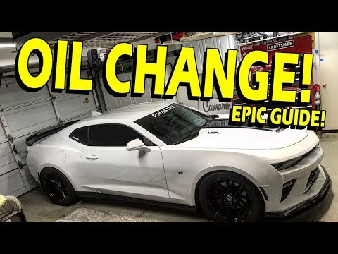 How to Change Your Oil (Guide) - 2016-2018 Camaro SS