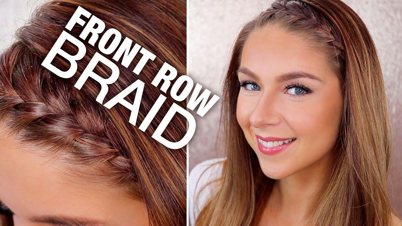 front row braid | hair tutorial