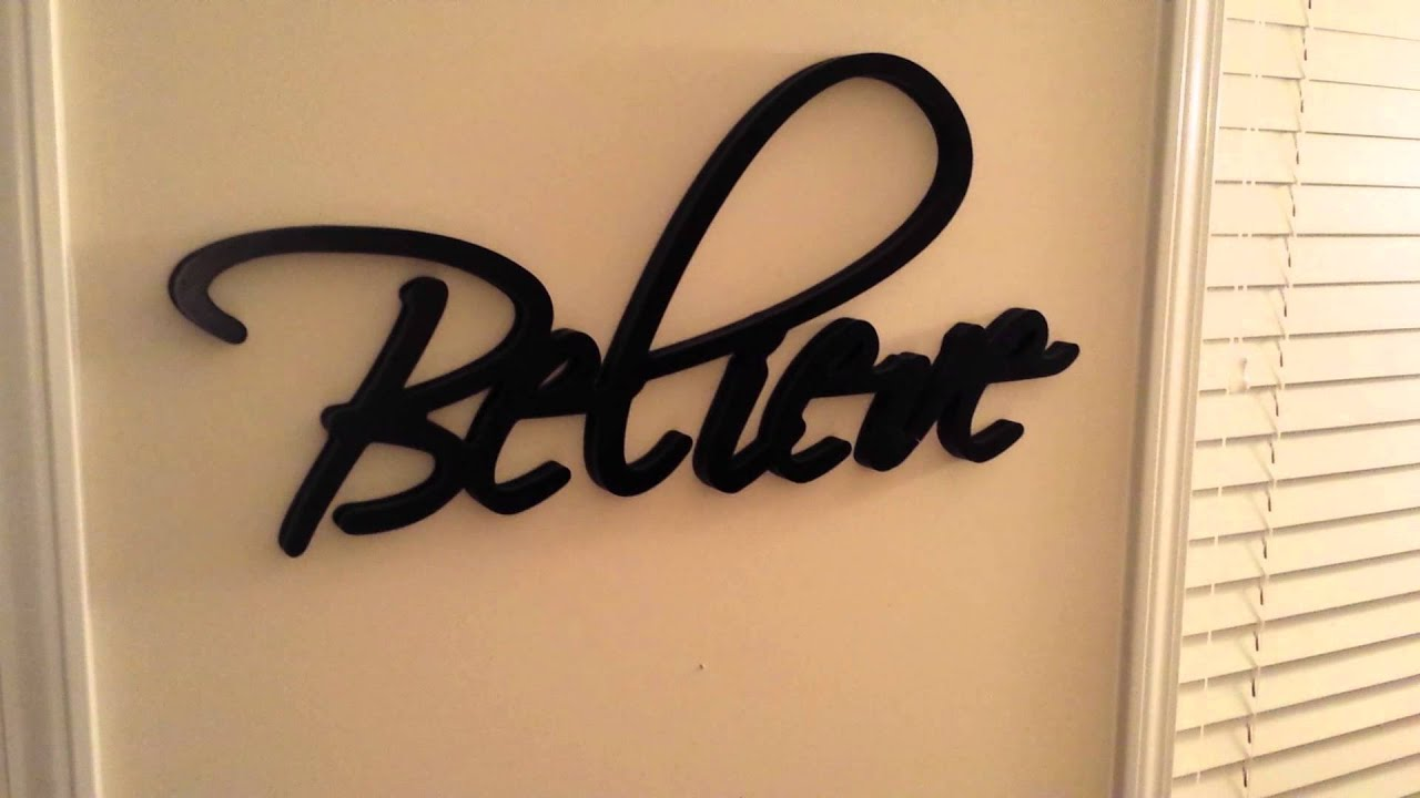 Believe word wall art m wall decal for Word wall art