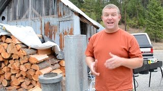 Upgrading the Wood Stove & Chimney in Our Tiny Off Grid Cabin