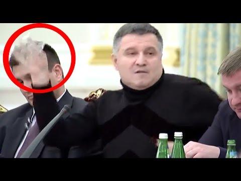 Prezidentin rəhbərlik etdiyi iclasda Saakaşvili və Avakov bir-birlərini təhqir edirlər