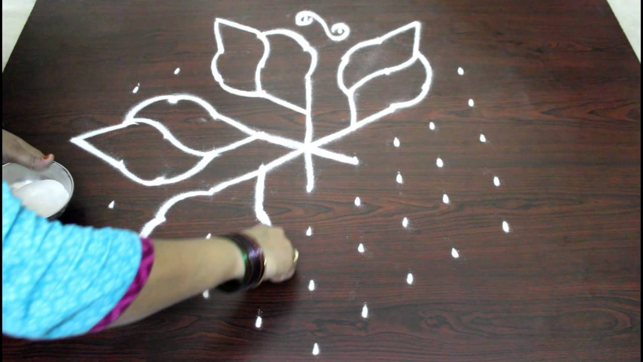 Kolam designs 5 dot kolam youtube - Kolam Designs With 9 To 5 Dots Muggulu Designs With Dots Simple Easy Rangoli Designs With Dots Youtube