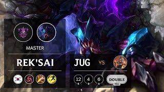Rek'Sai Jungle vs Qiyana - KR Master Patch 9.21