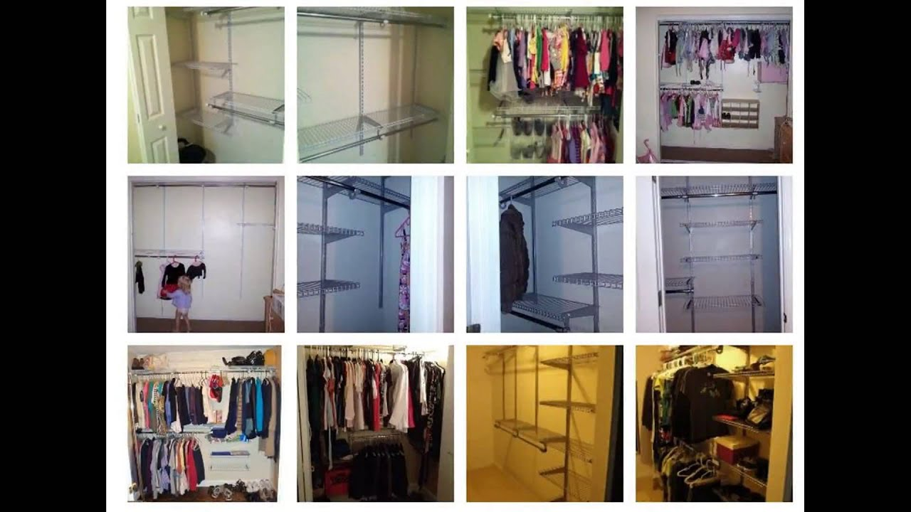 rubbermaid custom closet organizer deluxe 4 to 8 foot titanium youtube