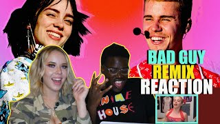 Billie Eilish - bad guy (with Justin Bieber) [Audio] REACTION