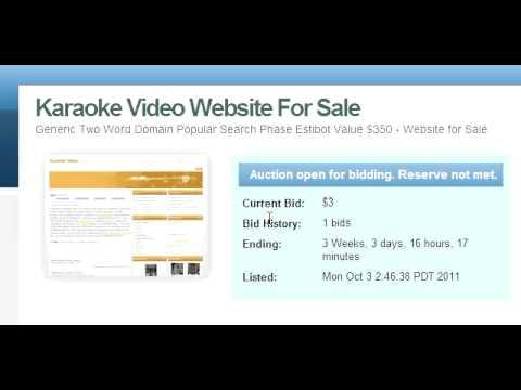 Preview Karaoke Video Website For Sale