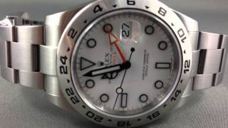 ROLEX NEW WRIST WATCH RELEASES - Rolex Explorer II 42mm Ref 216570 with White Dial