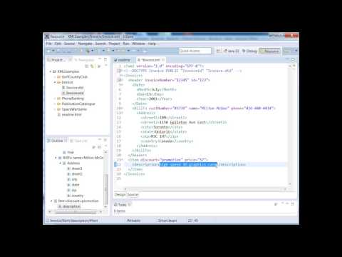XML Training Courses -  How To Use XML DTD Validation Using Eclipse