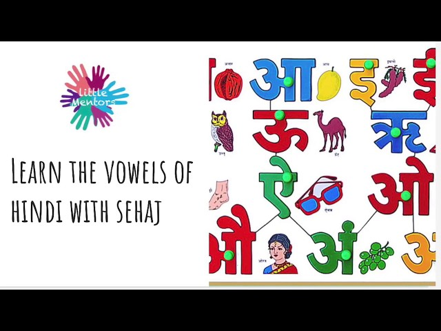 Little Mentors - Learn the Vowels of Hindi