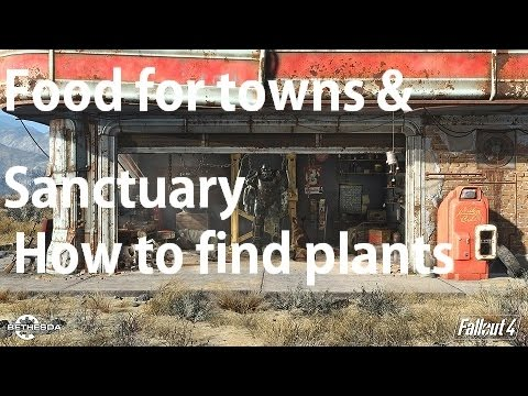 Fallout 4 - Food Plants Locations For Towns & Sanctuary Guide