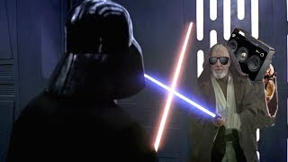Darth Vader vs Obi-Wan but every time blades clash the music changes
