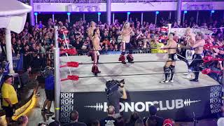 Jericho Cruise Alpha Club vs. Bullet Club post-match, Kenny and Y2J face off