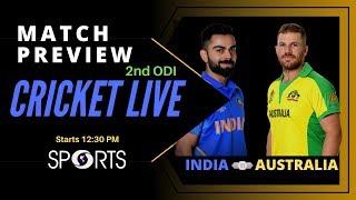 India vs Australia - 2nd ODI, Match Preview | CRICKET LIVE | DD Sports
