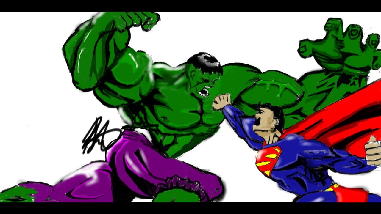 Learn how to color- Hulk vs. Superman! - YouTube