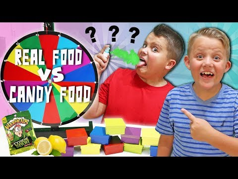 Mystery CANDY vs REAL FOOD Switch Up GAME!
