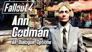 Fallout 4 - Meeting Ann Codman, Nazeem 2.0 All Dialogue Options