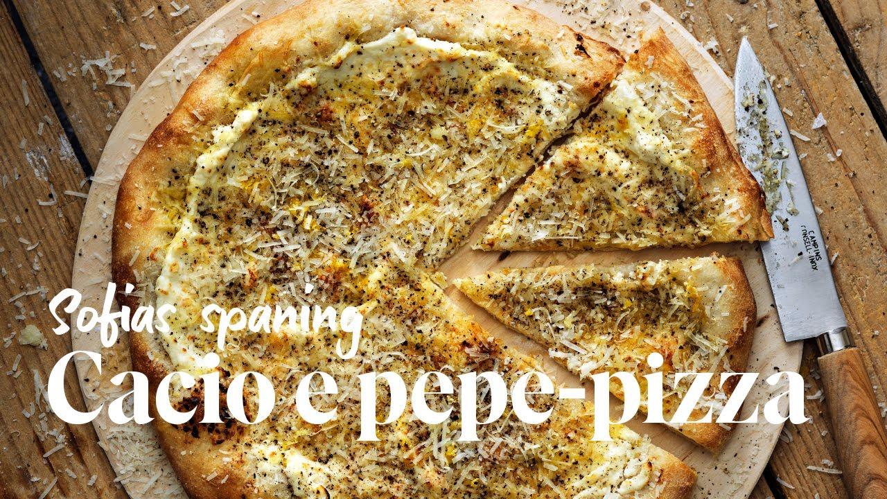 Så gör du cacio e pepe-pizza