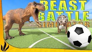 LES DINOSAURES JOUENT AU FOOT ! (Beast Battle Simulator)
