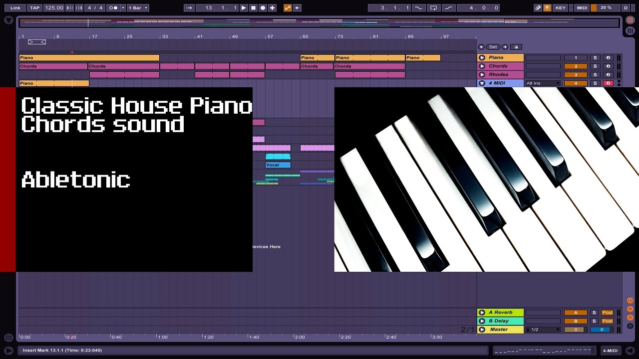How to make classic m1 house piano chord tutorial youtube for Classic house chords