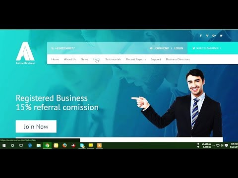 How To Sign Up In Aussie Revenue. Registered Business 15% Referral Comission