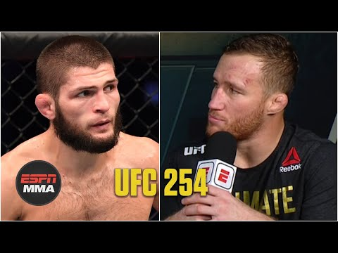 Justin Gaethje discusses loss to Khabib Nurmagomedov | UFC 254 Post Show | ESPN MMA
