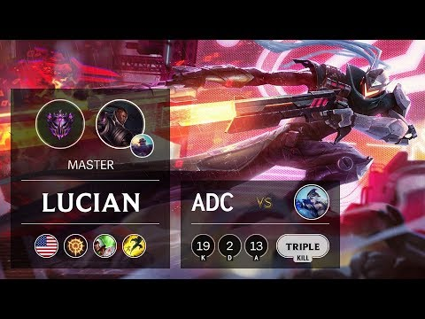 Lucian ADC vs Ashe - NA Master Patch 9.8