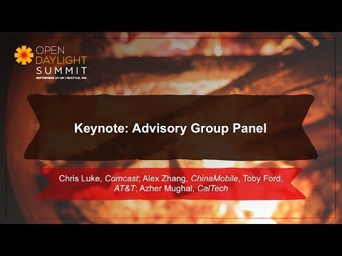 Keynote: Advisory Group Panel- Comcast, China Mobile, AT&T, CalTech