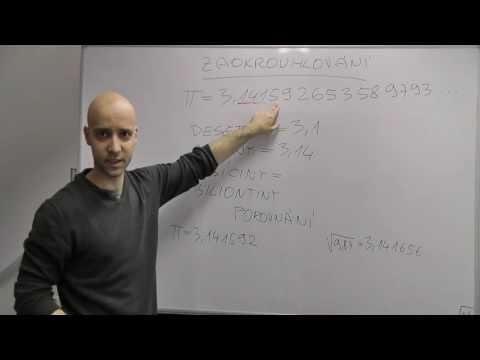 Středoškolská matematika - Číselné obory 19 - Zaokrouhlování