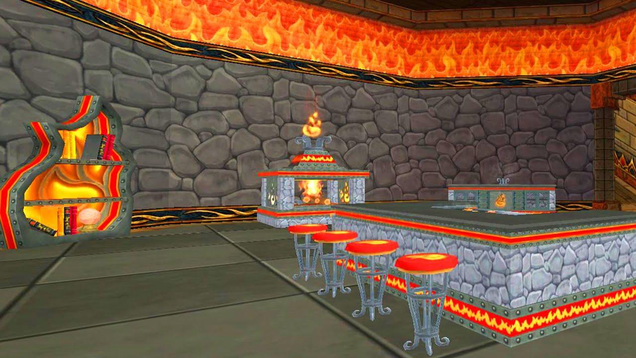 Wizard101: DALIA\'S HOT TUB! - New Fire Furniture Sets - YouTube
