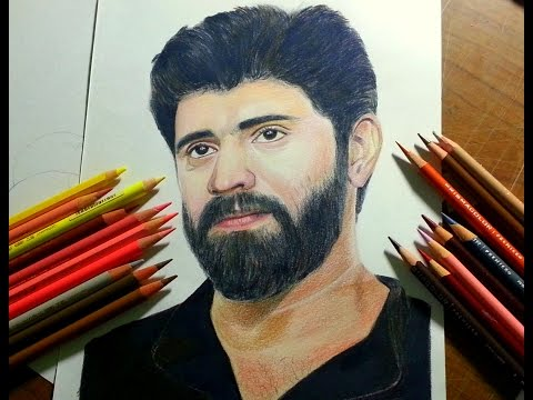Drawing NIVIN PAULY!!! --- using Colored pencils (Prismacolor and Polychromos)