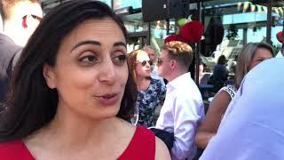 Hadia Tajik på Advokatforeningens fest