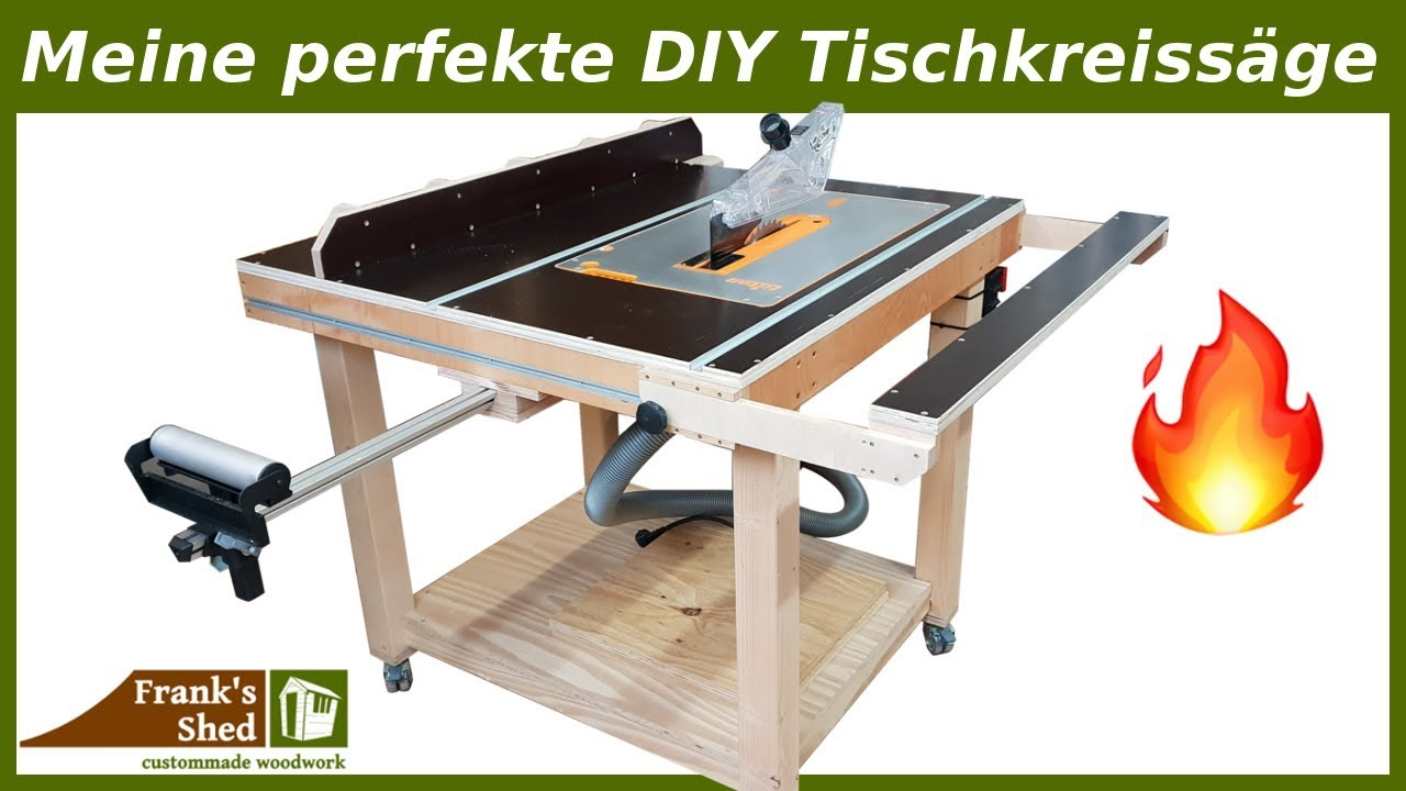 Popular Meine perfekte DIY Tischkreissäge 🔥 Werkstatt einrichten & selber MX15