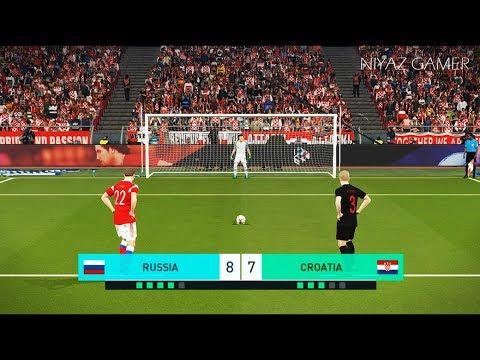RUSSIA vs CROATIA   Penalty Shootout   PES 2018 Gameplay PC