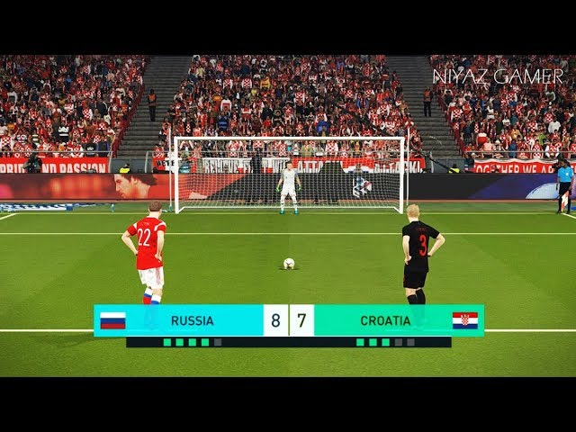 RUSSIA vs CROATIA | Penalty Shootout | PES 2018 Gameplay PC