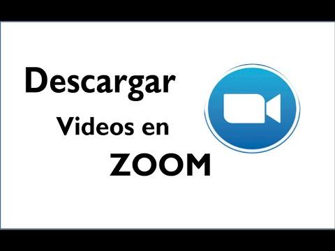 Como descargar videos de la plataforma de zoom