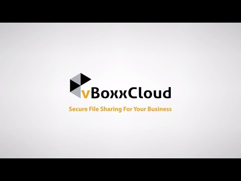 vBoxxCloud - GDPR ready cloud storage