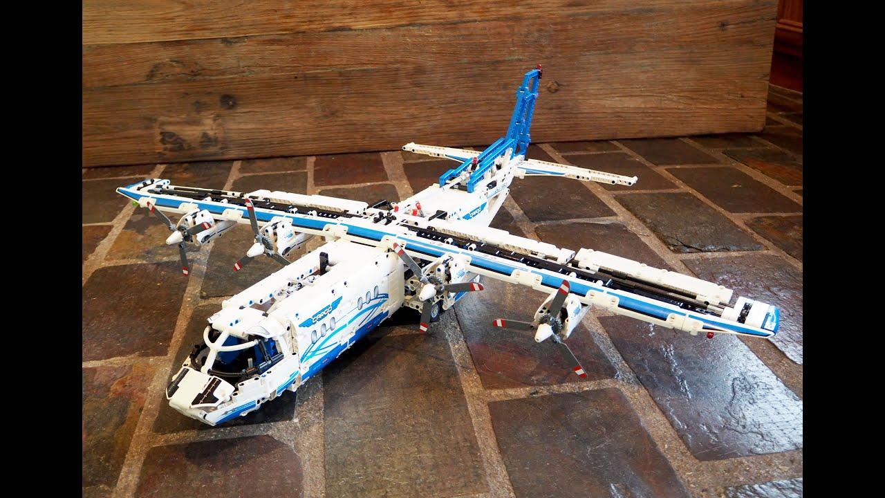 lego technic 42025 cargo plane double build youtube. Black Bedroom Furniture Sets. Home Design Ideas
